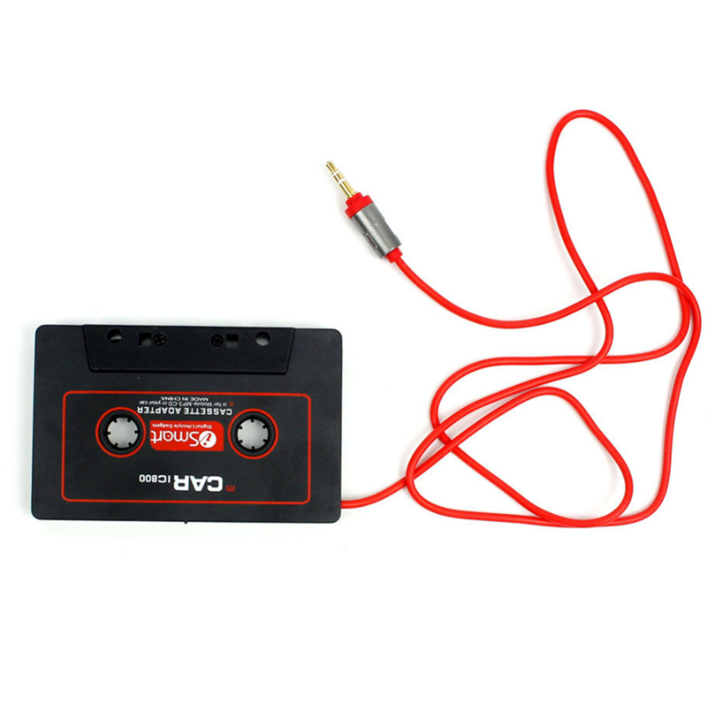Car 3.5mm Jack AUX Audio Tape Cassette Adapter Converter For CD Radio Player MP3 Magnetic Tape Player Recorder Receiver Cassette image