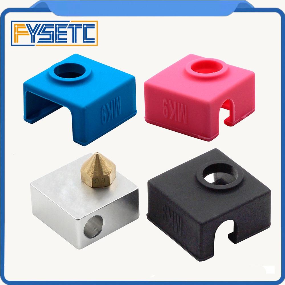 1PC Blue/ Pink /Black MK7/ MK8/MK9 Silicone Insulation Socks For Replicator Wanhao Anet Reprap Prusa SILICONE HEATER BLOCK COVER