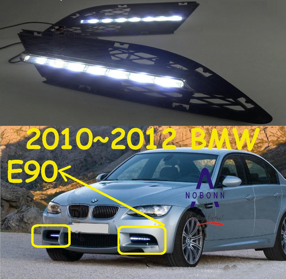 car-styling,E90 daytime light;2010~2013,chrome,Free ship!LED,E90 fog light,2ps/set;car-detector,series3:318 330 320i 325i teana fog light 2pcs set led sylphy daytime light free ship livina fog light