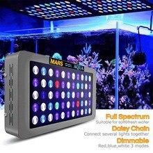 Mars aqua 165 Вт диммируемая Светодиодная лампа aqua rium для морских коралловых рифов SPS/LPS aqua rium светодиодное освещение