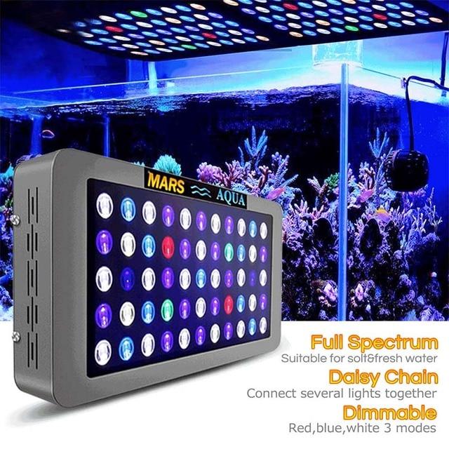 Lumières LED d'aquarium Dimmable de Mars aqua 165 w pour l'éclairage marin de LED pour aquarium de SPS/LPS de récif de corail