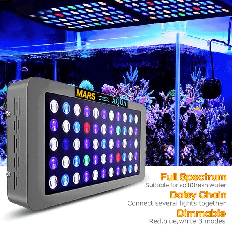 Mars Aqua 165w Dimmable Rampe Led Aquarium Lights For Marine Coral Reef SPS/LPS Aquarium Led Lighting