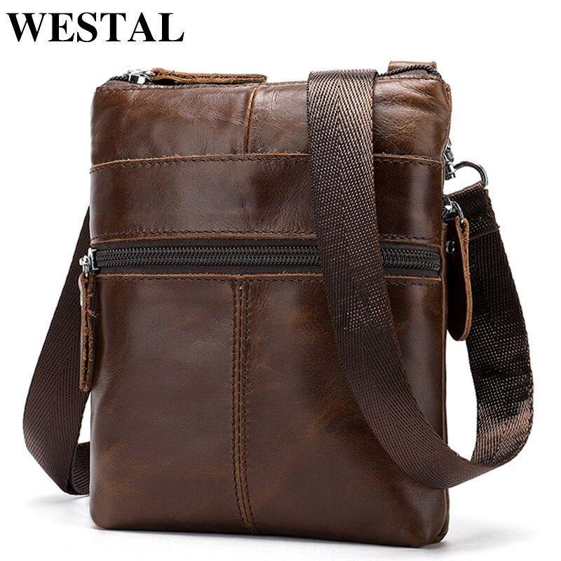 48978b748803 WESTAL классическая сумка мужская натуральная кожа через плечо сумки ...