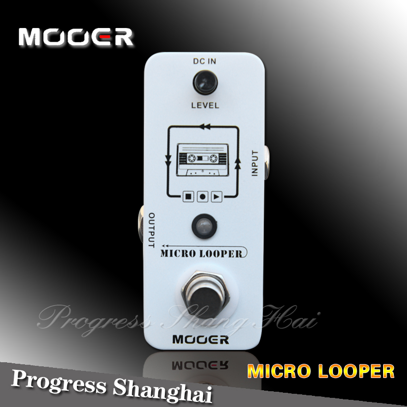 mooer micro looper loop recording effect pedal guitar pedal true bypass loop recording. Black Bedroom Furniture Sets. Home Design Ideas