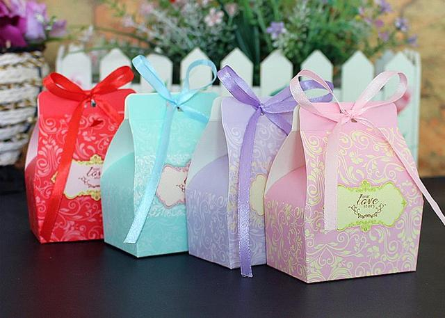 Wedding Favors Wholesale.Us 108 0 Colorful Small Cardboard Wedding Favors Wholesale Party Gift Box Candy Boxes Novelty Treasure Chocolate Paper Gift Box For Parti In Gift
