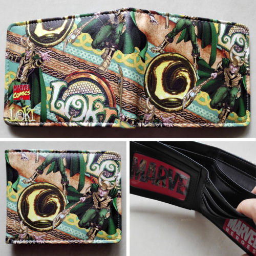 2018 Marvel The Avengers The Thor Loki Logo wallets Purse Multi-Color Leather W162 2018 games pacman games logo wallets purse multi color leather new hot w199