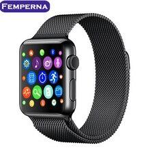 IWO Femperna segunda Actualización Bluetooth Reloj Inteligente para Apple IOS Android Smartphone IWO 2 1:1 MTK2502C Ritmo Cardíaco Smartwatch