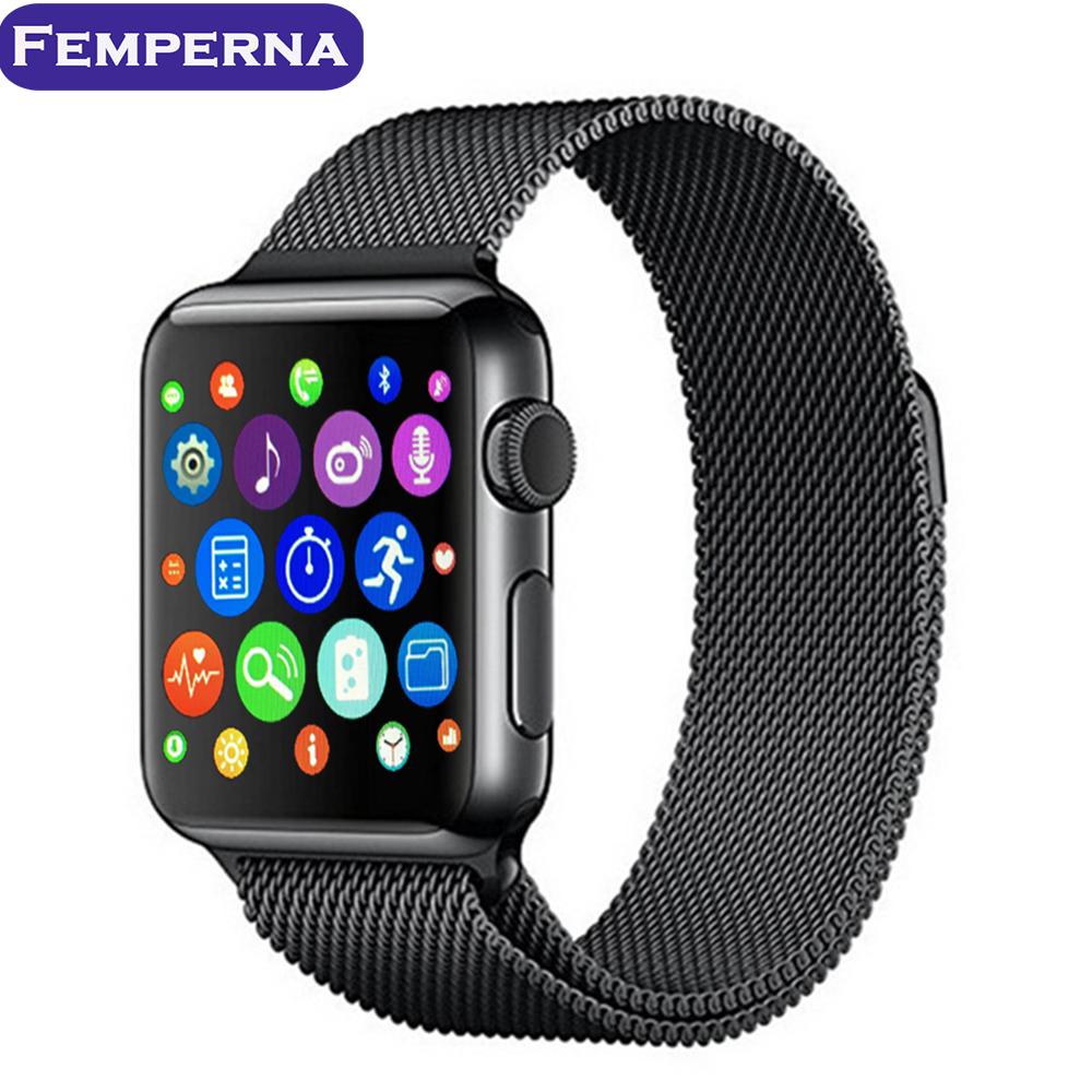 Prix pour Femperna iwo 2ème mise à niveau bluetooth smart watch pour apple ios android smartphone iwo 2 1:1 mtk2502c coeur taux smartwatch