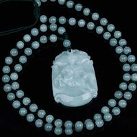 Natural jadeite jade pendant Chinese zodiac signs transshipment Yu Pei jade pendant necklace for women and men