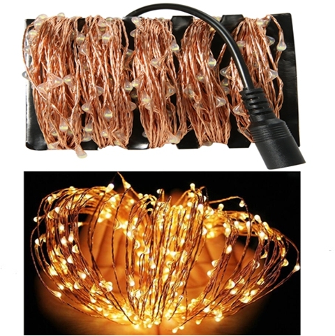 165ft 50m 500 Leds Copper Wire Led String Starry Fairy Lights For Christmas Wedding Outdoor Dc 12v Adapter Eu Us Uk Au