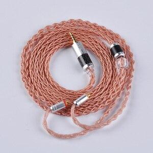 Image 4 - Alliage à 8 noyaux hifi980 avec câble en cuivre pur câble équilibré 2.5/3.5/4.4mm avec connecteur MMCX/2pin pour LZ A6 AS10 ZS10 ZS6 AS10