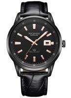 Rolendo 2018 Человек Бизнес часы кварцевые для мужчин часы сталь чехол черный ремешок многоцелевой наручные Relogio Masculino