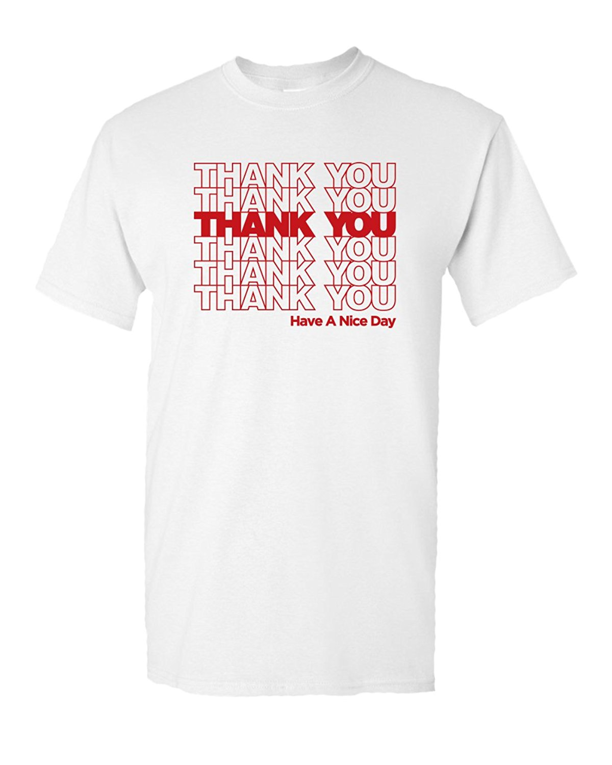 Thank You Bag Sack Tee Thankyou Shop Store grocery Novelty Classic Funny Humor Pun Graphic Adult Mens T-Shirt