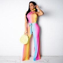 dface3e99109 Celebrity Fashion Nova Women Jumpsuit Elegant Rainbow Bodycon Festival Plus  Size Jumpsuits And Rompers For Women