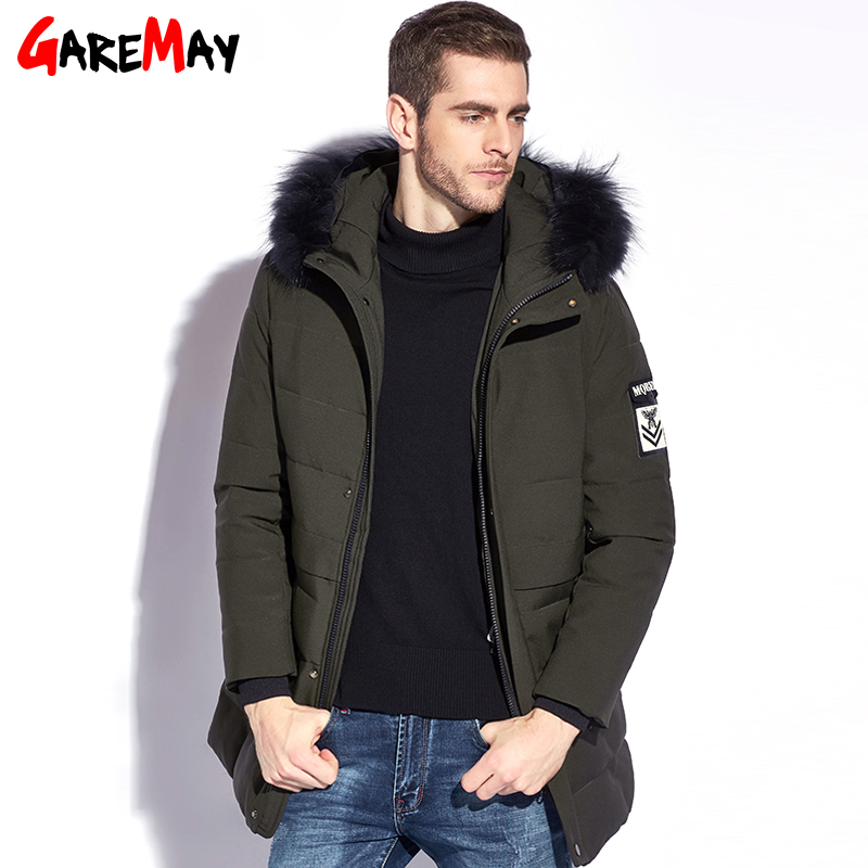GAREMAY 2017 Winter Men's Jacket Thickening Casual Cotton Mens Long Jackets Fur Puffer Thick Coats Hooded Men Parka Warm Winter casual 2016 winter jacket for boys warm jackets coats outerwears thick hooded down cotton jackets for children boy winter parkas