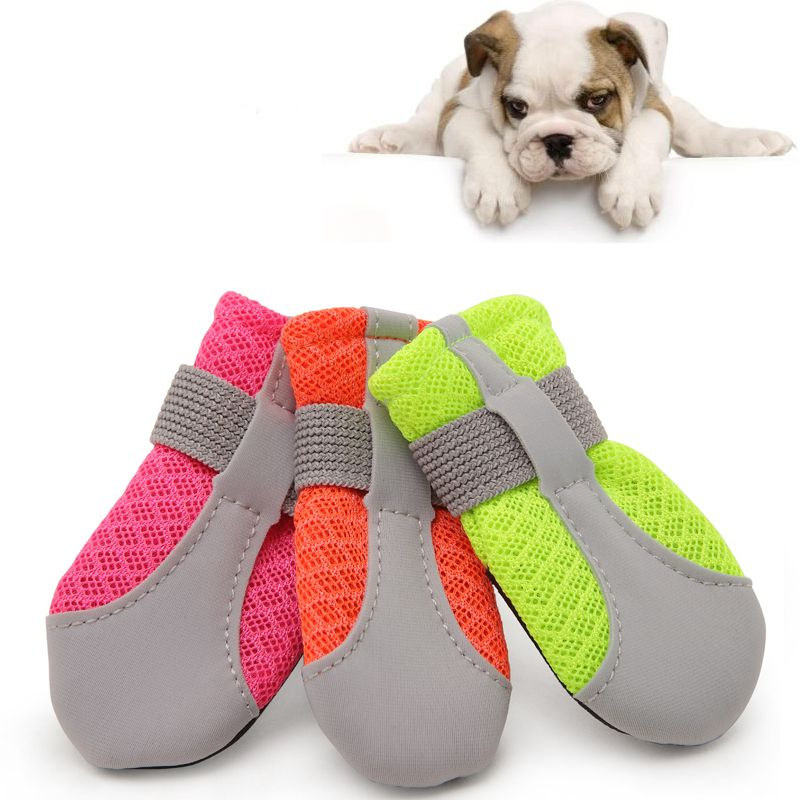 b1261b27260 US $3.86 21% OFF|4pcs Waterproof Winter Pet Dog Shoes Anti slip Snow Pet  Boots Paw Protector Warm Reflective For Medium Large Dogs Labrador Husky-in  ...