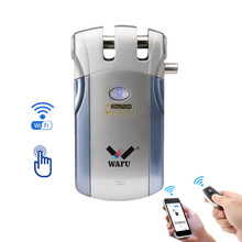 Electronic Invisible Wireless in-APP monitoring Remote Control Easy Install Security Indoor Touching Unlock WIFI Smart Door Lock