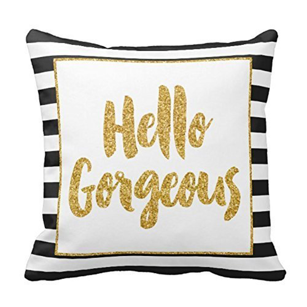 online get cheap gold throw pillows aliexpress com alibaba group prevalent 2017 cute gold glitter stripes square throw pillow case cushion cover home decor drop shipping