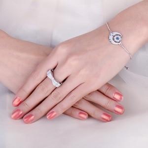 Image 4 - JewelryPalace CZ obrączki 925 srebro pierścionki dla kobiet wieżowych pierścionek jubileuszowy Eternity Band srebro 925 biżuteria