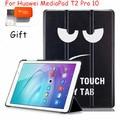 Diseño único de la PU del caso del tirón para Huawei MediaPad T2 Pro 10 FDR-A01W FDR-A03L caja de la tableta colorido pintado + regalo