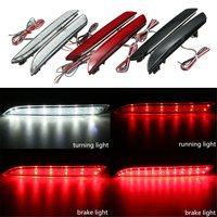 2Pcs 24 LED Rear Bumper Reflector Tail Brake Stop Running Turning Light Fog Lamp For Honda