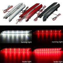 2Pcs 24 LED Rear Bumper Reflector Tail Brake Stop Running Turning Light Fog Lamp For Honda/CR-Z/CR-V