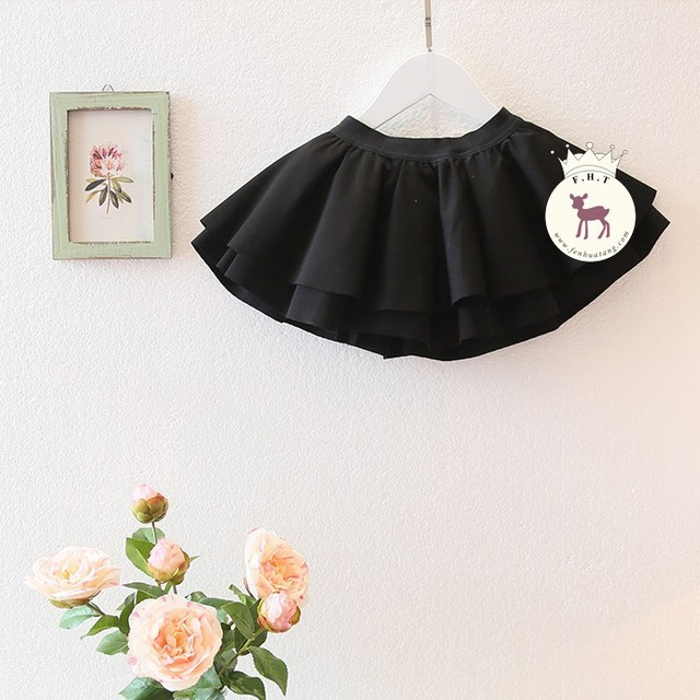 new spring 2016 waist skirt bitter fleabane black color skirt