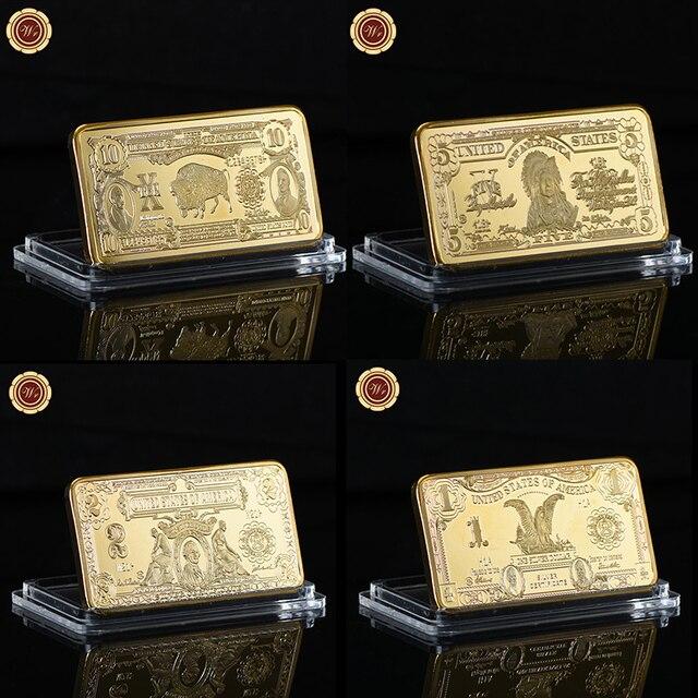 WR Gold Bullion Bar billete americano plata dólares copia Metal réplica barras de oro manualidades de recuerdo para regalos de navidad