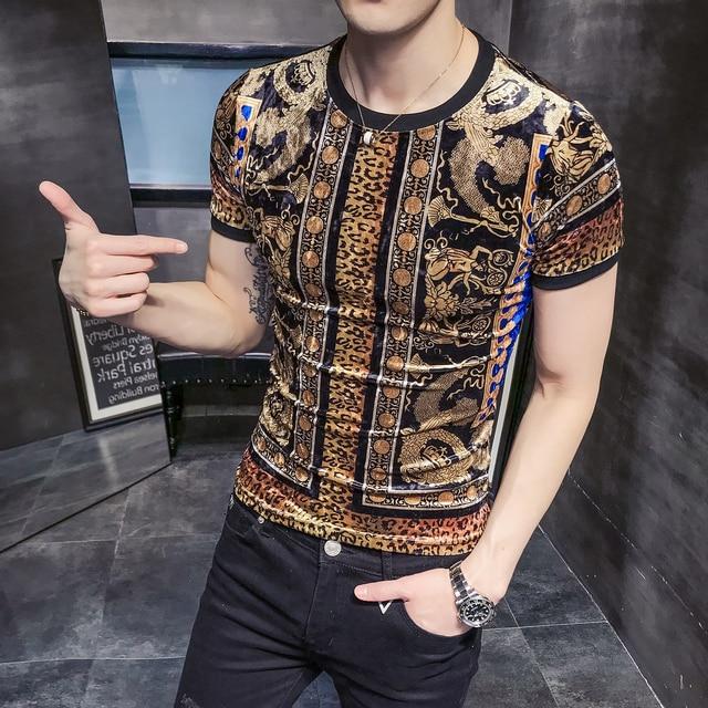 Мужская футболка han edition culticulate morality, Мужская футболка с короткими рукавами, с принтом, с леопардовым принтом, короткая волна B333 3570 P45