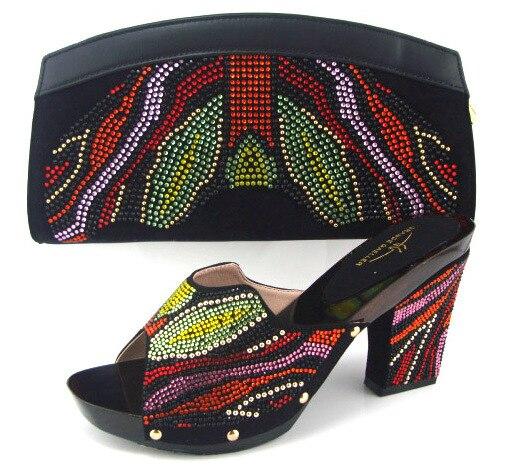 8e7e334a6 ( AB1 ) мода итальянская женщина соответствия обуви и сумка комплект для ну  вечеринку, высокое