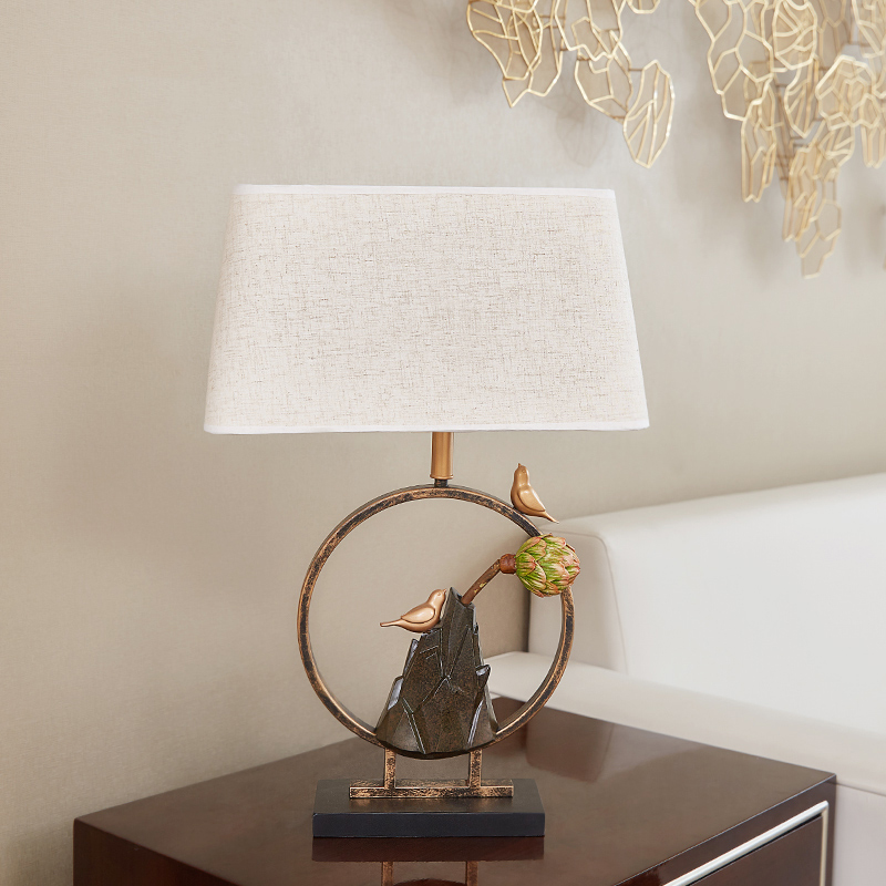 Led Table Lamp Modern Desk Lamp Magpie Settles On The Bough Light Button Switch Bedroom Living Room Office Decoration Lighting цена и фото