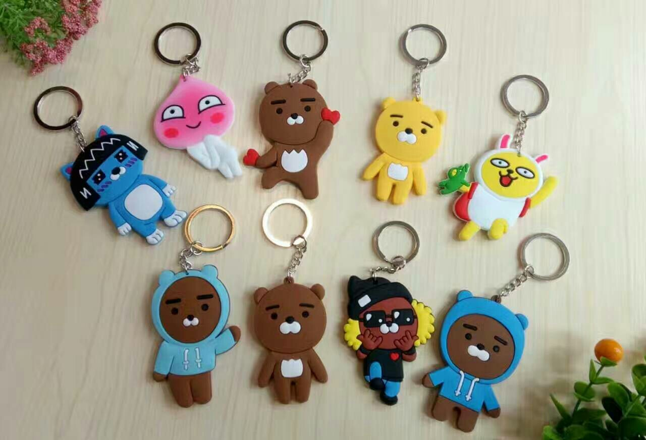 SHINEHENG New Arrival Ryan Apeach Muzi Double-sided PVC Action Figure Cartoon Kawii Keychain Good Gift for Girl/boy Friend new arrival be rbrick bear bearbrick pvc action figure toy 52cm vinyl art figure as a gift for boyfriends