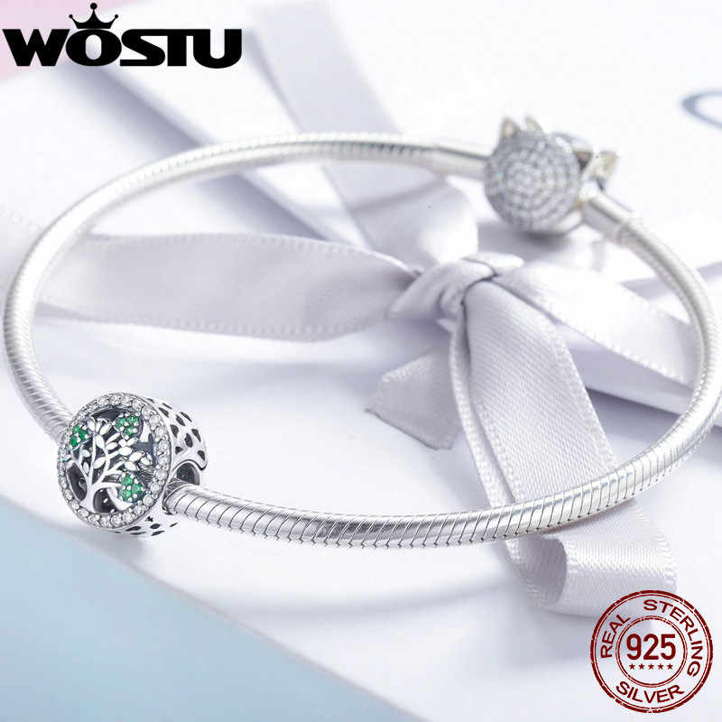 WOSTU 2019 New 925 Sterling Silver Tree for life Charm Bead fit Original Brand Bracelet Fashion Silver Jewelry Gift CQC919