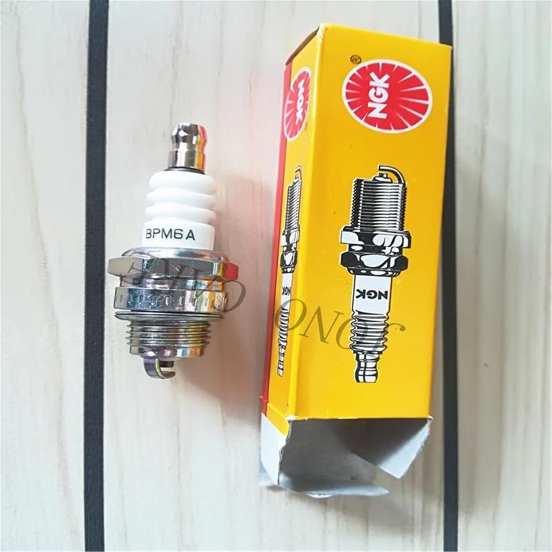 50pcs Chainsaw Brush Cutter NGK Spark Plug For Stihl Husqvarna Emark Shindaiwa Mcculloch Poulan 2Stroke Lawnmower Trimmer BPM6A