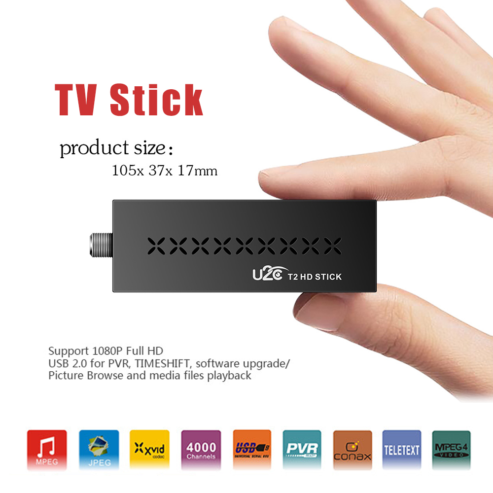 DVB-T2 U2C T2 HDMI 1080P 4K TV Stick Simple Than Android TV Box MSTAR7T01  Support English Spanish Russian French TV Receiver