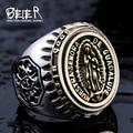Beier nuevo llega la vendimia anillo polaco br8-281 domineering figura de hombre de joyería de moda anillo de acero inoxidable 316l