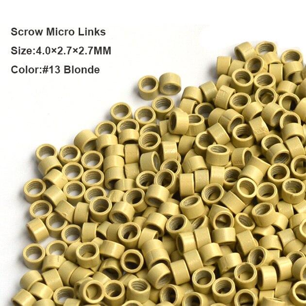 Бұрандалы микро сақина 4 * 2.7 * 2.7MM 1000Pcs / - Шаш күтімі және сәндеу - фото 5