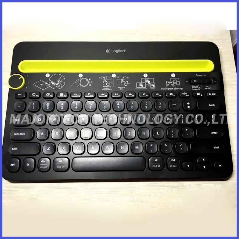 ФОТО 100% Original Logitech K480 portable wireless keyboard Bluetooth Multi-Device Keyboard for Computers/Tablets/Smartphones