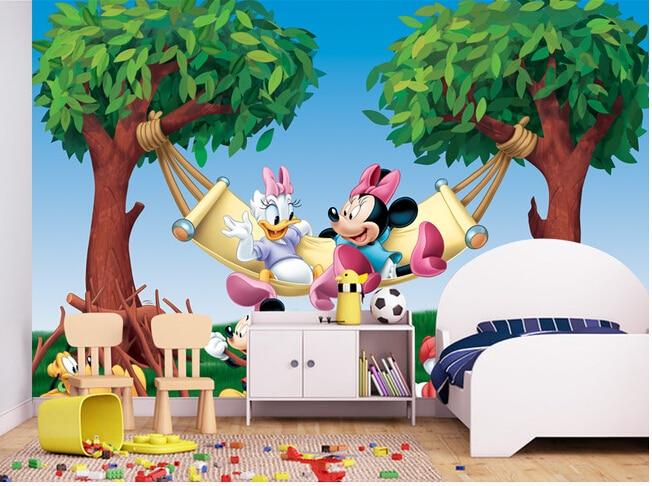 Custom children  wallpaper, a large cartoon mouse murals for paradise children room wall paper DE parede vinyl which wallpaper