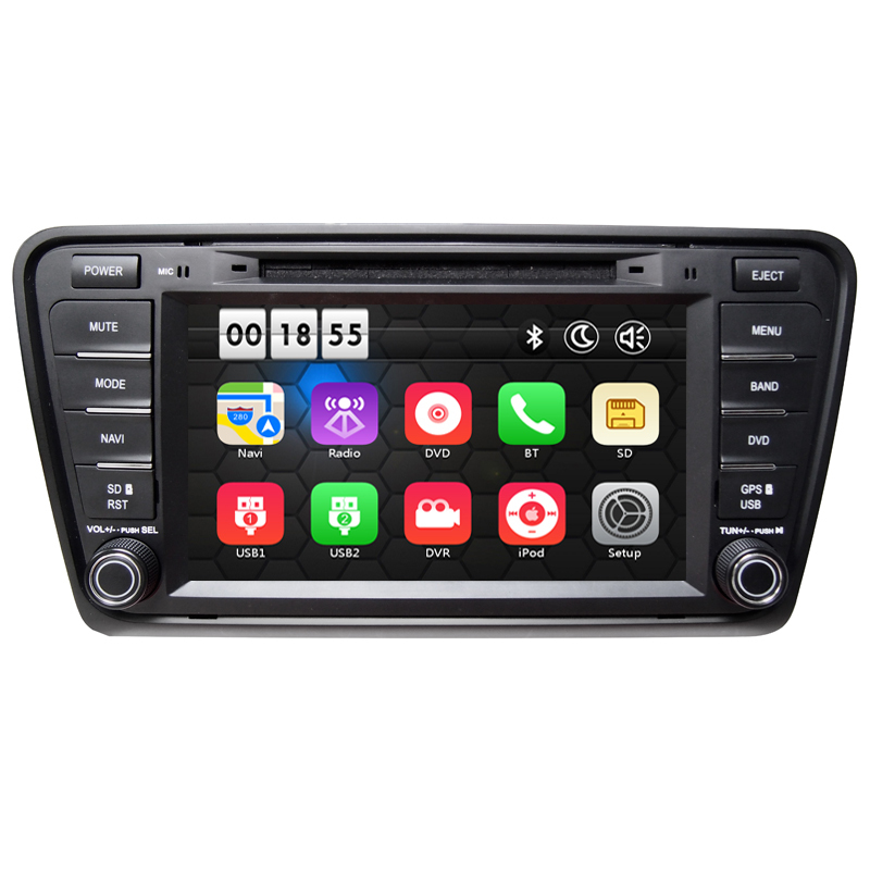 8 HD Touch Screen Wince Car DVD Player GPS Navigation System For VW Skoda Octavia III 2013 2014 2015 A7 Can Bus RDS Bluetooth