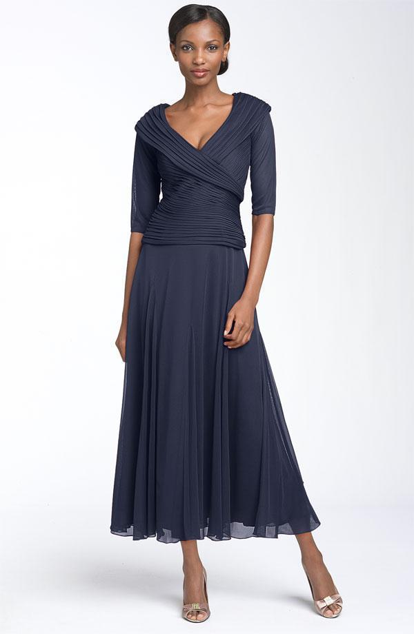 Online Get Cheap Tea Length Mother of The Bride Chiffon Dress ...