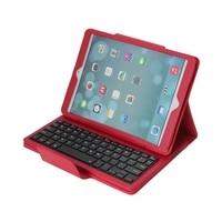 Detachable Bluetooth Wireless ABS Keyboard PU Leather Protective Case Dustproof Plug Stylus Pen For Apple IPad