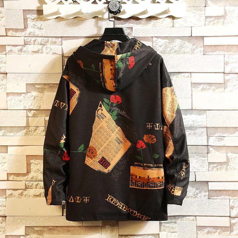 Privathinker INS куртка-бомбер с капюшоном для мужчин 2018 Мужская Уличная одежда с забавным принтом ветровка мужская корейская мода осенние куртки пальто