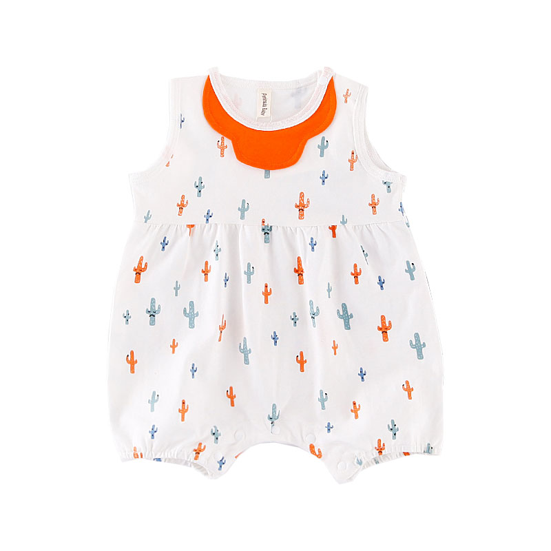 Newborn Baby Girl Costumes Sleeveless Cotton Clothes Cute Bebes Infantil Summer Outfit Bibs Decor Sunsuit Infant Jumpsuit 0-18M