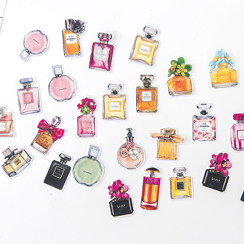 Mini Perfume Paper Sticker Cute Animal Cat Decoration DIY Diary Scrapbooking Label Stickers Stationery Gift School Supplies