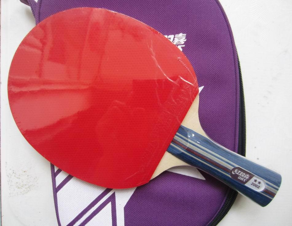 Original DHS 2002 et 2006 tennis de table raquettes 2 étoiles avec boutons en tennis de table en caoutchouc fini raquettes de ping-pong pagaies