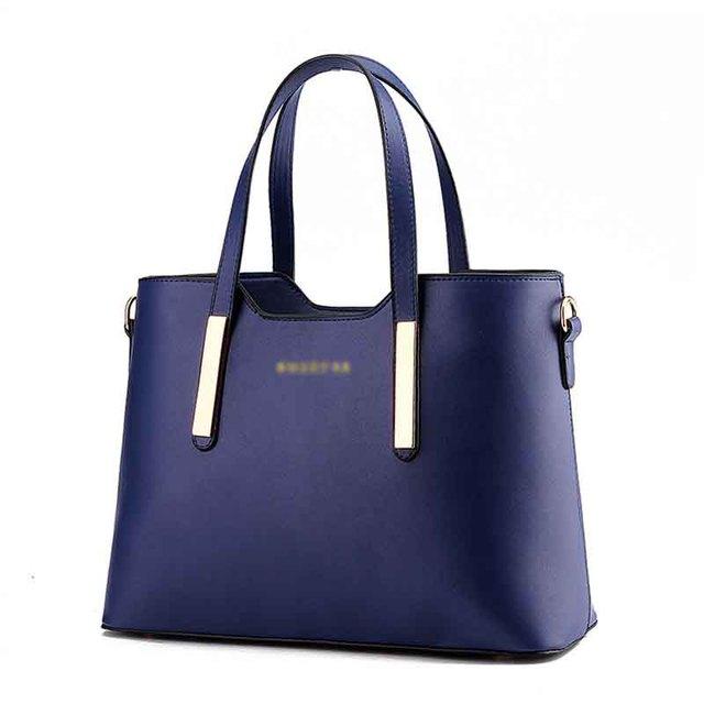 PU bag 2016 high-quality casual fashion women handbags Simple Retro Shoulder Messenger large capacity bag for the office ladies