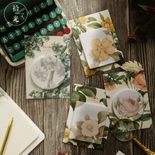 30 sheets Kawaii Creative retro flower stickers School  Memo Pad Supplies Planner Stickers Paper Bookmarks Stationery