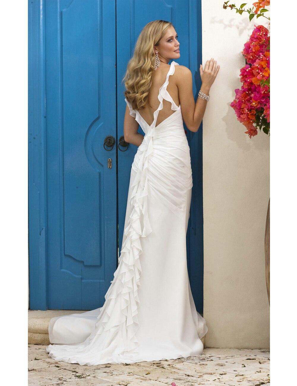 2016White Country Western Wedding Dresses 2015 Elegant Wedding Gowns ...