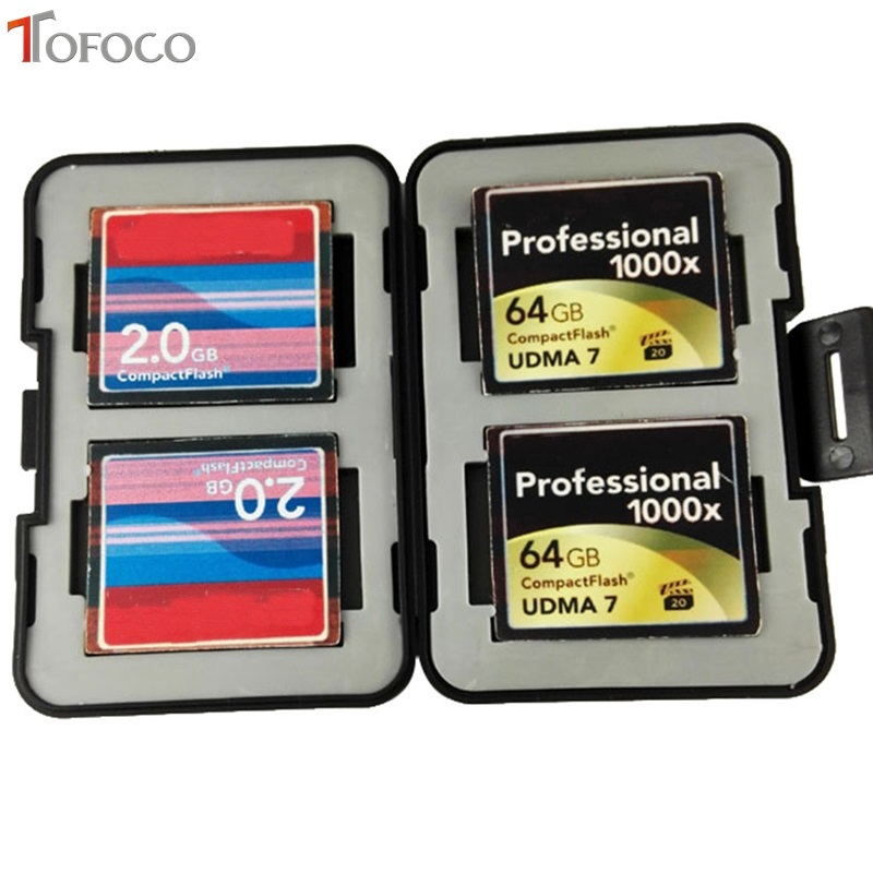 TOFOCO Storage Slim Card Holder Box Memory Card Case MC-SDMSD 12 Slots Waterproof 4SD+4CF+4TF SD CF SDHC Card